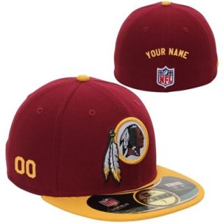 New Era Washington Redskins Mens Customized On Field 59FIFTY Football Structured Fitted Hat