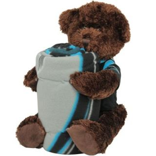 Northwest Carolina Panthers 40 x 50 Fleece Blanket with Bear