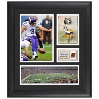 Blair Walsh Minnesota Vikings Framed 15 x 17 Collage with Game Used Football