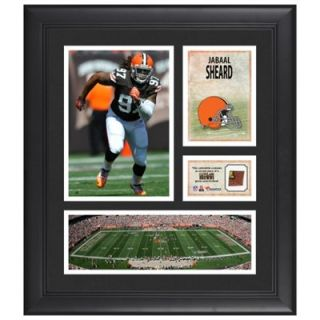 Jabaal Sheard Cleveland Browns Framed 15 x 17 Collage with Game Used Football