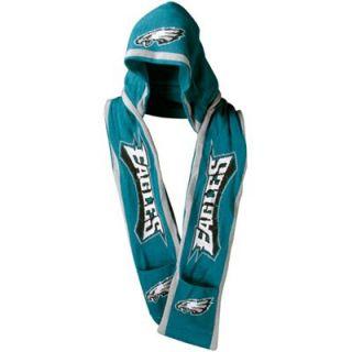 Philadelphia Eagles Midnight Green Hooded Knit Scarf