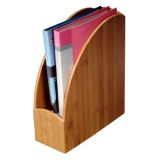 Bamboo Curved Magazine File   Home Magazine Racks