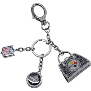 Anastasio Moda Pittsburgh Steelers Ladies Swarovski Crystal Bag Charm Keychain