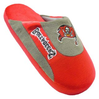 Comfy Feet NFL Low Pro Stripe Slippers   Tampa Bay Buccaneers   Mens Slippers