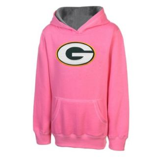 Green Bay Packers Youth Girls Logo Pullover Hoodie   Pink