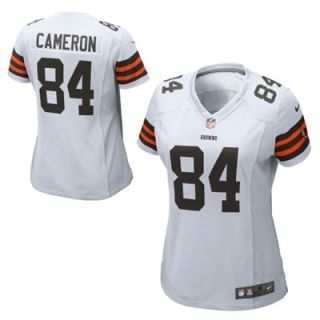 Nike Jordan Cameron Cleveland Browns Ladies Game Jersey   White