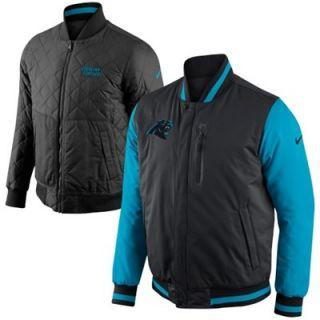 Nike Carolina Panthers Defender Reversible Full Zip Jacket   Black/Panther Blue