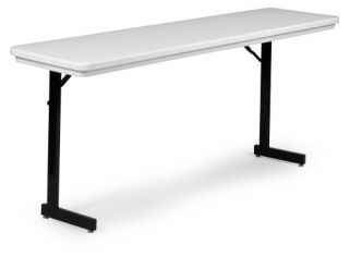 Correll 72 in Rectangle Plastic T Leg Folding Table   Office Tables