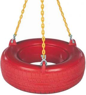 Plastic Tire Swing With Chain   Swings