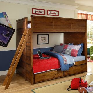 Elite Logan County Full Bunk Bed   Trundle Beds