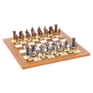 Medieval Knights Hand Painted Chess Set   Chess Sets