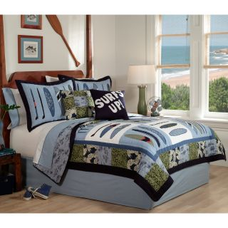 Pem America Catch A Wave Quilt Set   Boys Bedding
