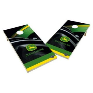John Deere Tailgate Toss XL Shields Regulation Cornhole Set   Tractor Tire   Cornhole