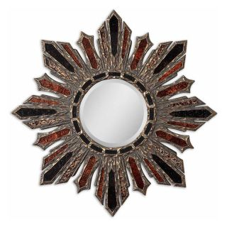 Arvada Starburst Reverse Painted Glass Wall Mirror   36 diam. in.   Wall Mirrors