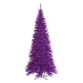 Vickerman Purple Slim Fir Pre lit Christmas Tree   Christmas Trees