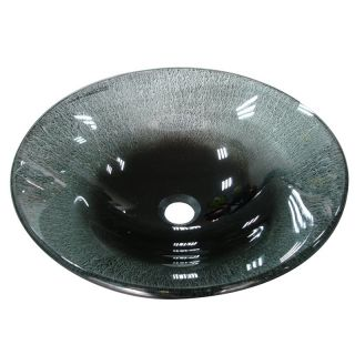 Yosemite Home Decor Aria Round Vessel Sink   Clear Water   Bathroom Sinks