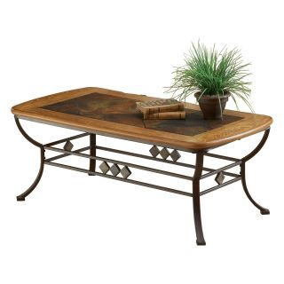 Hillsdale Lakeview Wood and Slate Top Cocktail Table   Coffee Tables
