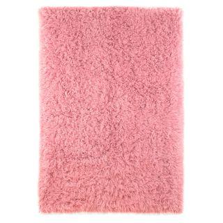 nuLOOM Premium Greek Flokati 20FS05 305 Area Rug   Pink   Area Rugs