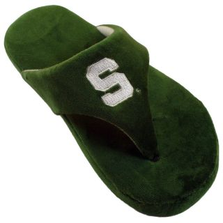 Comfy Feet NCAA Comfy Flop Slippers   Michigan State Spartans   Mens Slippers