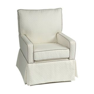 Little Castle Mesa Glider   Links White with Grey Piping   Nursery Gliders & Rockers