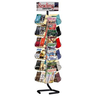 Combination Magazine Paperback Book Rack without Casters   Commercial Magazine Racks