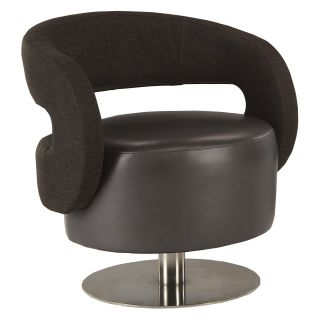 Lazar Flow Swivel Chair with Memory Swivel   Anaconda Onyx   Accent Chairs