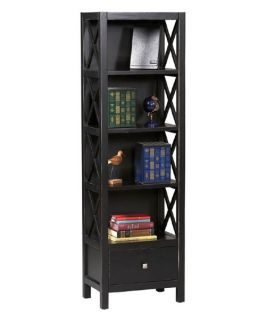 Linon Anna Tall Narrow 5 Shelf Wood Bookcase   Bookcases