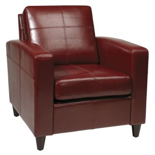 Ave Six VNS51A CBD Cherry Eco Leather Venus Club Chair   Upholstered Club Chairs
