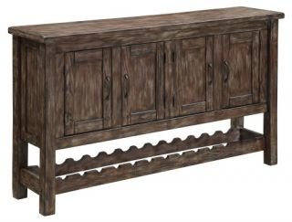 Coast to Coast 43305 4 Door Credenza   Dining Accent Furniture