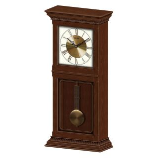 Seiko Cambridge Mantel Pendulum Clock   Dark Brown   11.25W x 25.25H in.   Mantel Clocks