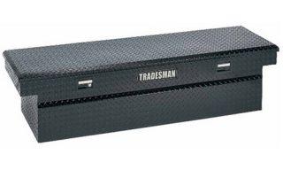 Tradesman Full size Deep Design Truck 70.25 in. Aluminum Cross Bed Tool Box   Black   Truck Tool Boxes