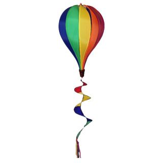 In the Breeze Rainbow Hot Air Balloon with 12 Panels Wind Spinner   Wind Spinners