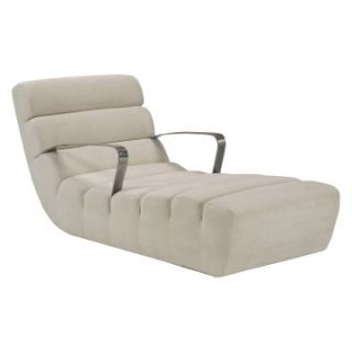 Lazar Aston Upholstered Lounge Chaise with Arms   Indoor Chaise Lounges