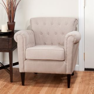 Jofran Serena Accent Chair   Linen   Upholstered Club Chairs