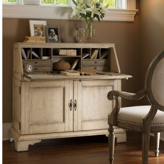 Lexington Home Brands Twilight Bay Colette Secretary Desk   Antique Linen   Writing Desks