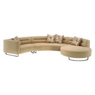 Lazar Calcutta Upholstered Sectional Sofa with Accent Pillows   Sectional Sofas