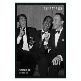 The Rat Pack   Carnegie Hall Framed Wall Art   25.41W x 37.41H in.   Framed Wall Art