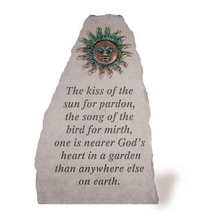 The Kiss Of The Sun For Pardon Garden Stone   Sun Design   Garden & Memorial Stones