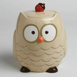 Tag Owl Cookie Jar   Fall
