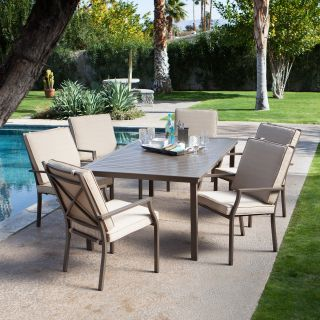 Coral Coast Bellagio Cushioned Aluminum Patio Dining Set   Seats 6   Patio Dining Sets
