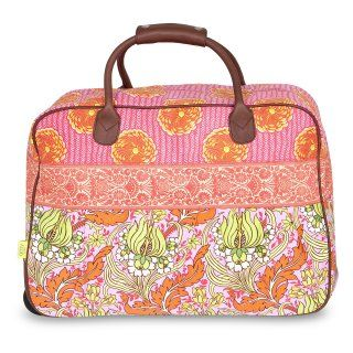 Amy Butler for Kalencom Supernatural Collection Cara Tote Bag   Temple Tulips Tangerine   Luggage