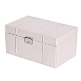 Mele Fiona Locking Drop Front 2 Drawer Bonded Leather Jewelry Box   7W x 5.625H in.   Womens Jewelry Boxes