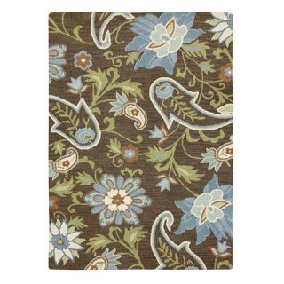 Mohawk Import Jacobean Floral Wool Green/Brown Rug   Area Rugs