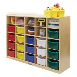 ECR4KIDS 25 Tray Storage Cabinet with 25 Sand Bins   Toy Storage