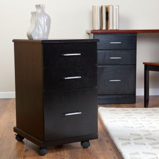 The 3 Drawer Mobile Modern File Cabinet   Black   File Cabinets