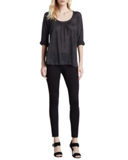 Joie Chava Embroidered Cotton Top & Keena Ponte Leggings