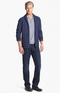 Jason Scott Ali Cardigan & Paige Denim Doheny Straight Leg Jeans