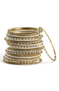 Cara Accessories Mix Media Bangles (Set of 24)