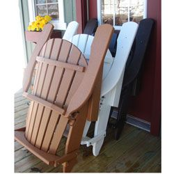 forever phat tommy two tone recycled folding adirondack chair