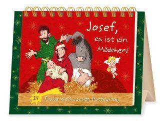 Josef, es ist ein M�dchen!: 24 Frohe Weihnachts Postkarten: Thorsten Saleina: Bücher